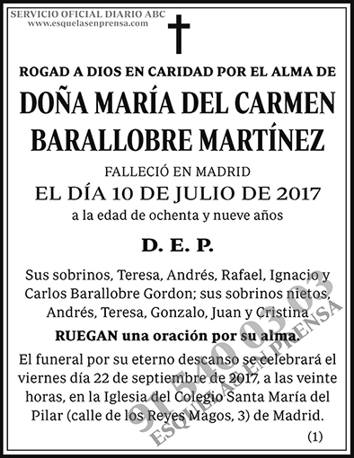 María del Carmen Barallobre Martínez